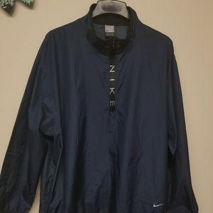 Nike half zip pullover windbreaker XL navy